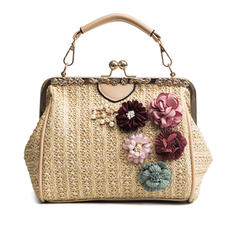 Elegant/Floral/Braided Polyester Clutches/Beach Bags