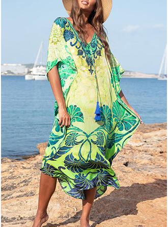 Print Boho Cover-ups Swimsuits