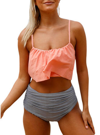 High Waist Strap Elegant Plus Size Bikinis Swimsuits