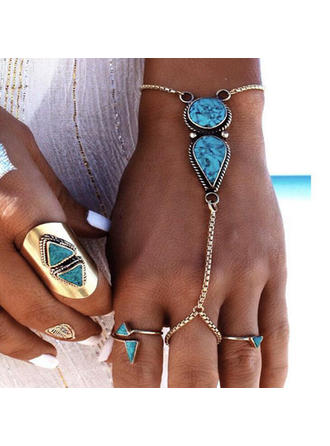 Exotic Alloy With Gem Women's Beach Jewelry
