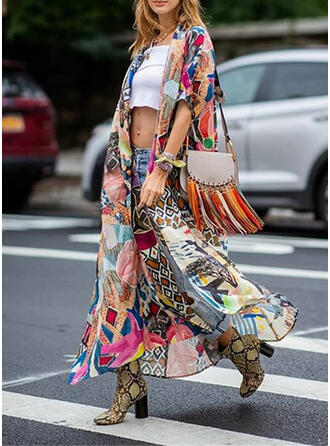 Floral Tropical Print V-Neck Bohemian Retro Casual Exquisite Cover-ups Swimsuits