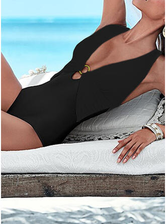 Backless Keyhole Cross Halter V-Neck Strapless Sexy Classic Retro One-piece Swimsuits