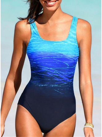 Colorful Print Strap Beautiful One-piece Swimsuits