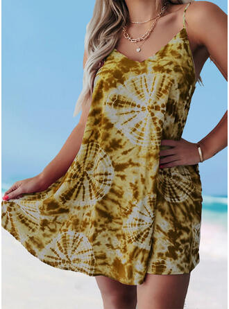 Floral Strap U-Neck Cover-ups Swimsuits