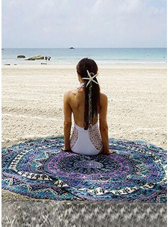 Retro/Vintage/Tassel/Bohemia Light Weight/round/Multi-functional/Sand Free/Quick Dry Beach Towel